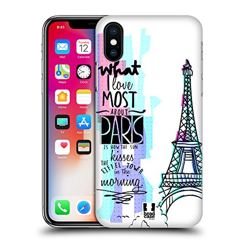 Head Case Designs Portobello Road Londra City Love Cover Retro Rigida per Apple iPhone X Torre Eiffel Parigi Francia