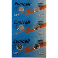Shipping with Tracking 6x Eunicell Alkaline AG2Button Cell Batteries–G2LR59/LR726/396/397SR726W