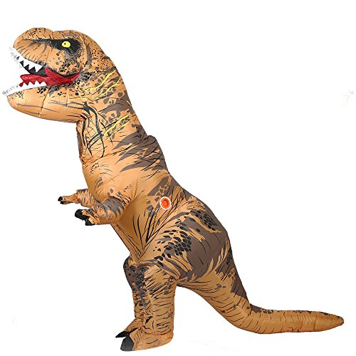 Aufblasbare Dinosaurier T-Rex Kostüm Party Fancy Kleid Cosplay Outfit mit Batterie betriebenen Ventilator (Blow Up Kostüme Für Erwachsene)
