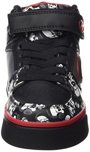 Heelys Cruz 770498, Chaussures Mixte Enfant Black/Grey/Red