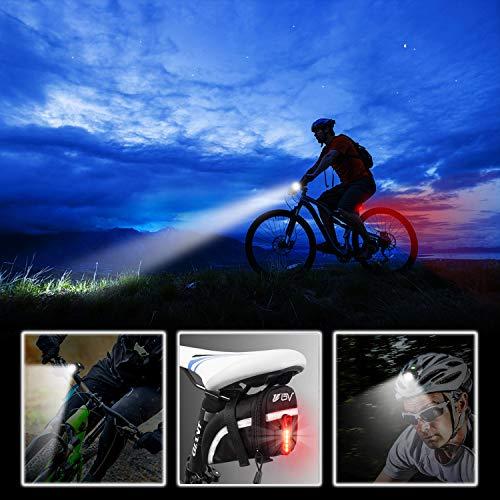 Gretrue Fahrradlicht LED Set, StVZO USB Wiederaufladbare Fahrrad Licht Set, IP65 Wasserdichte Fahrradlampe Set, Fahrradlicht Set Superhelle, Fahrradbeleuchtung für Nachtfahrer,Radfahren und Camping - 2
