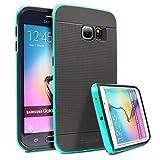 URCOVER Étui de Protection Bumper Neo Hybrid | Armor-Case Samsung Galaxy S6 Edge | Plastique et Silicone Menthe vert | Coque Double-couche Ultra-mince Housse Anti-chocs Cover Compléte