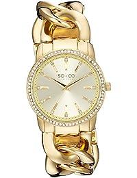 SO & CO New York 5071.3 - Reloj para mujeres, correa de acero inoxidable color dorado