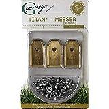 Genisys 30 x titanium reservemesbladen voor Husqvarna Automower/Gardena robotmaaier (longlife | 0,75 mm | 3 g) + 30 x geanodi