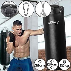 Boxsack für Erwachsene | Gefüllt, Ø35 cm, H120 cm, Gewicht 30 kg, inkl....