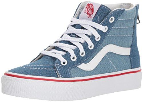 k8-Hi Zip Sneaker, Blau (Denim 2-Tone), 30 EU (Kinder Vans Schuhe)