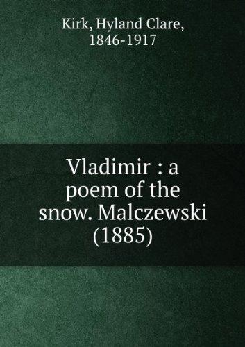 Vladimir : a poem of the snow. Malczewski (1885)