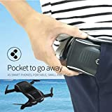 igemy 2,4 G 4 CH altitud Hold HD cámara wifi FPV RC Quadcopter Drone bolsillo selfie plegable, negro