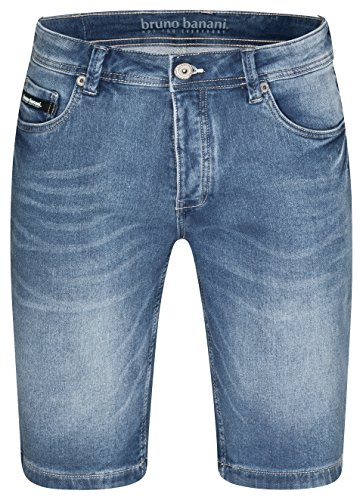 bruno banani Kurze Herren Jeans Hose/Bermuda Shorts Blau, Größe 40