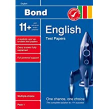 Bond 11+ Test Papers English Multiple-Choice Pack 1