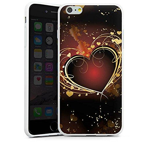 Apple iPhone X Silikon Hülle Case Schutzhülle Verliebt Herz Liebe Silikon Case weiß