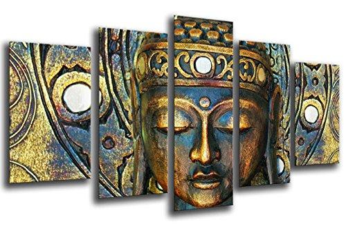 Cuadro Buda fotografico Base Madera, 165 x 62 cm, Buda Buddha Retro Ref. 26018