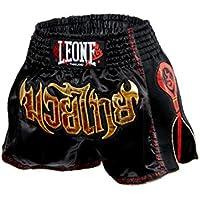Leone 1947 AB754 Pantalones Cortos de Kick-Thai, Unisex – Adulto, Negro, M