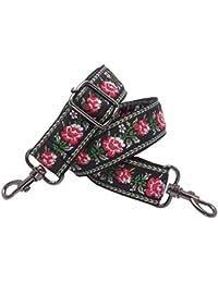 41139859fbae8 BENAVA Taschengurt Schultergurt Bunt Verstellbar mit Blumen Muster 60-120 cm