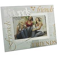 """Friends Glitter, in vetro e specchio con cornice portafoto regalo """""""