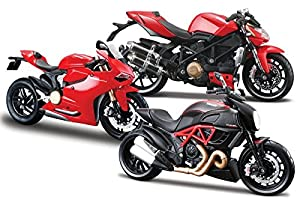 Mac Due S.P.A- Moto 1:12 Maisto Ducati Ass. 34101, 873144