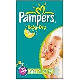 Pampers Baby Dry taille 3 + (5-10kg) 2x68 par paquet gros paquet Midi Plus