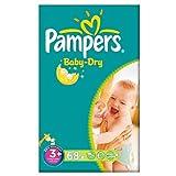 Pampers Baby Dry Größe 3 + (5-10kg) Große Packung Midi Plus-2x68 pro Packung