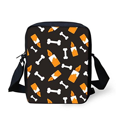 CHAQLIN Borsa Messenger, Halloween Pumpkin (nero) - CHAQLIN Candle