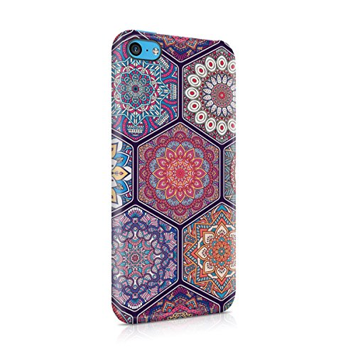 Buddha, Hamsa, Ganesh, Mandala Hindu Pattern Apple iPhone 5 , iPhone 5S , iPhone SE Snap-On Hard Plastic Protective Shell Case Cover Custodia Hindu Mandala