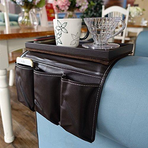 Ikea, porta telecomando/porta tè, da bracciolo di divano e di poltrona, con tasche, 19 x 15,2 x ...