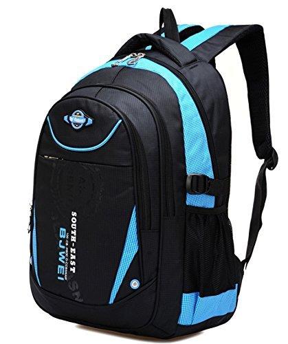 Geek-m zaino scuola per elementare e media impermeabile borsa per ragazzi e ragazze (blu)