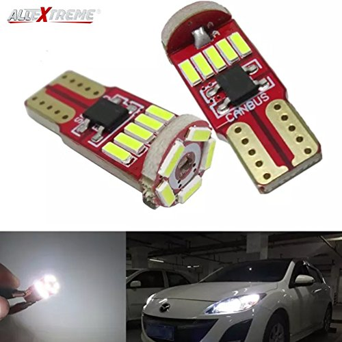 AllExtreme EXT15CW Universal T10 LED Parking Light 5630 CMD Super Bright Interior Pilot License Plate Dome Indicator…