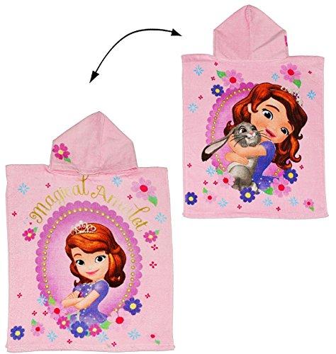 ie erste - 50 cm * 115 cm - 4 bis 8 Jahre Poncho - mit Kapuze - Handtuch Strandtuch Baumwolle - Disney the first / Prinzessinnen - Mädchen für Kinder Badehandtuch - Badetuch Frottee (Prinzessin Kapuzen-handtuch)
