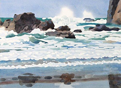 Arthouse Am Fuß des Heuhaufen Rock, archivalisch Print auf Papier, 25,4x 33cm - Aqua-print-rock