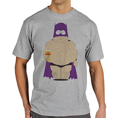 South Park Family Characters Cartoon Swag Beer Bat Man Herren T-Shirt Grau