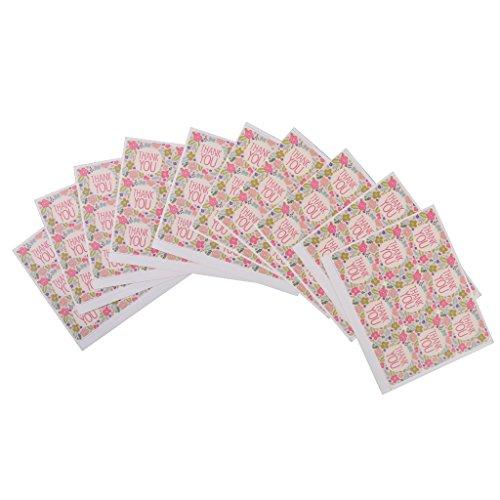 90pz-grazie-colorato-etichette-di-carta-regalo-fiore-sigillo-mestiere-adesivo-di-imballaggio