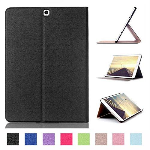 Hülle für Samsung Galaxy Tab S2 9.7 SM-T810 T811 T813 T815 T819 9.7 Zoll Schutzhülle Etui Tablet Tasche Smart Cover S 2 (Schwarz) NEU