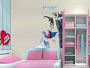 Stickers muraux, Scene Queen Elsa de «La Reine des Neiges - mural amovible réutilisable pour Enfants / Garçons / Filles / Décoration/Maison/Chambre à coucher etc en PVC