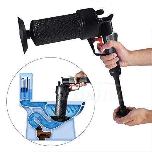 GFYWZ Air Power Drain Blaster Druckpumpe Rohr Sink Plunger Dredge Cleaner Werkzeuge Für Bad Toiletten Badezimmer Dusche Küche Badewanne, Schwarz