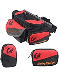AllExtreme ARTBG-02 Riding Tribe Outdoor Large Fanny Waist Bag For Cycling Camping Travel Hiking Motorbike (Red...