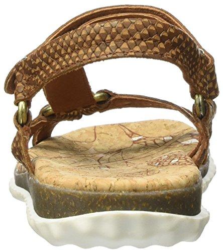PANAMA JACK Damen Caribel Snake Offene Sandalen mit Keilabsatz Braun (Bark)