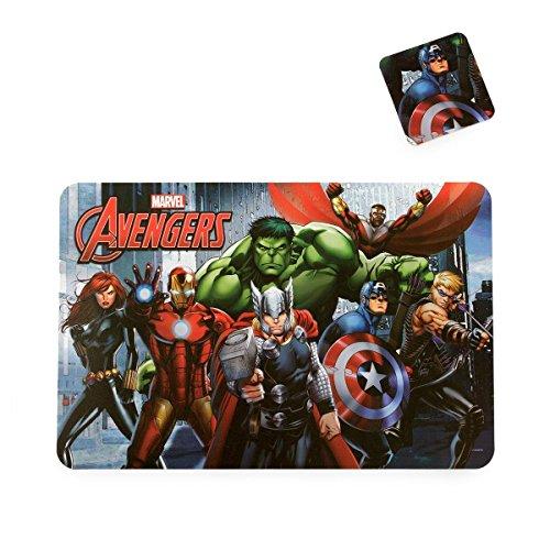 Tovaglietta all'americana Captain America Avengers Marvel con sottobicchiere P919
