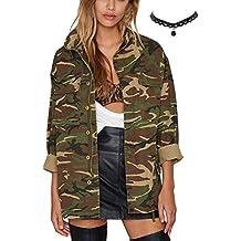 Manteau femme motif militaire