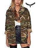 M-Queen Femme Manteaux à Capuche Camouflage Armée Casual Hoodie Veste Jacket Casual Blouse Chemise Coat - camouflage - Taille Asian-XXL
