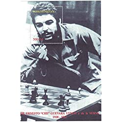 """sellos para coleccionistas-perforfated sello hoja con Ernesto """"Che"""" Guevara/tablero de ajedrez/Turkmenistán"""