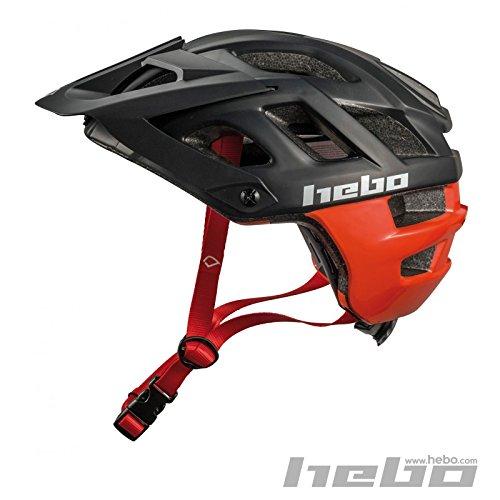 HEBO Casco Bici Crank 1.0, Blanco y Rojo, 55-58 cm
