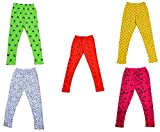 #6: IndiWeaves Girls Super Soft and Stylish Cotton Printed Leggings(Pack of 5)