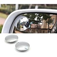 HD Frameless convesso vetro Car Blind Spot specchio ampio angolo Rear View 360° ruotare e oscillare lente 2 pezzi/set - 51mm * 150 curvatura - Auto Per Bambini View Mirror