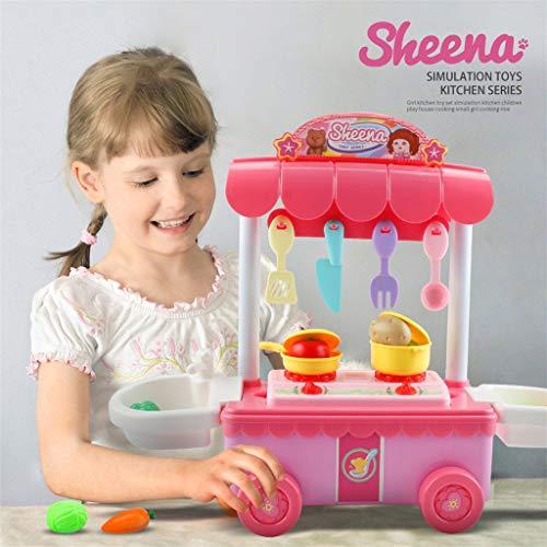 Bildung Squishy Spielzeug aufblasbares Spielzeug im Freien Spielzeug,Kindergeschenk-Küchenwagen-Spielset Kids Pretend Play Toy Food Toys Bildung ()