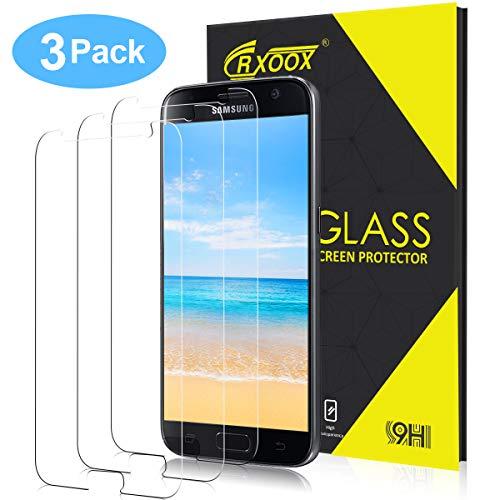 CRXOOX 3 Stück Panzerglas Schutzfolie für Samsung Galaxy S7, 9H Härte Glas Folie Displayschutzfolie, [HD Klar][Anti-Bläschen][ Anti-Fingerabdruck][Ultra Dünn] Panzerfolie Panzerglasfolie für S7