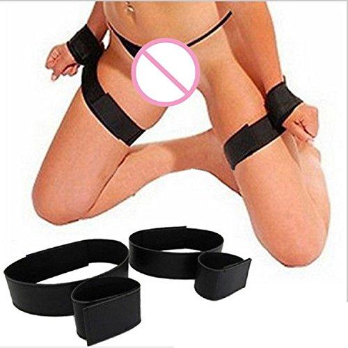 LCLrute Sexspielzeug Set 2 Paar BDSM Handschellen Bein Schenkel Gürtel Bondage Set Fesseln Fetisch Sex Spielzeug
