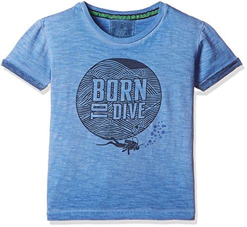 Gini & Jony Baby Boys' T-Shirt (121246515048 C605 BLUE JEWEL(C605) 12M)