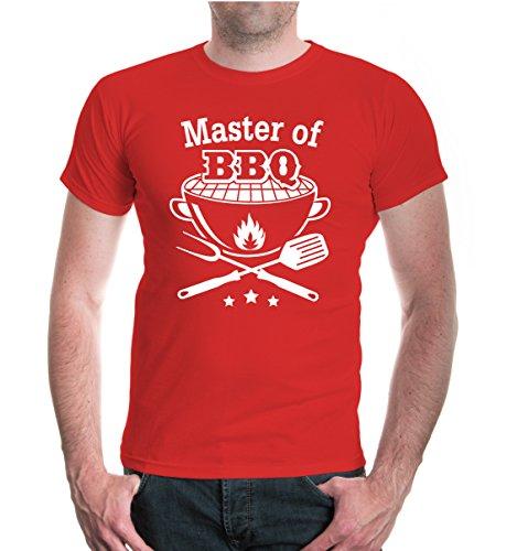 buXsbaum® T-Shirt Master of BBQ Red-White