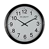 Large Stylish Black & White Bold Classic Quartz Wall Clock Non Ticking Silent Sweeping Seconds 40cm by Hometime
