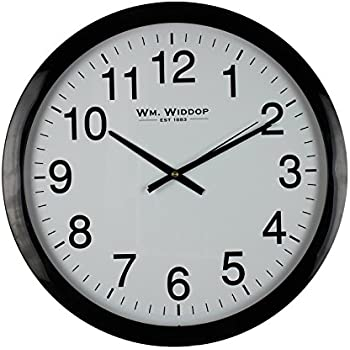 large stylish black u0026 white bold classic quartz wall clock non ticking silent sweeping seconds 40cm